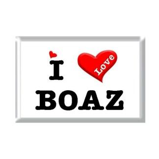 I Love BOAZ rectangular refrigerator magnet