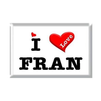 I Love FRAN rectangular refrigerator magnet