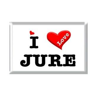 I Love JURE rectangular refrigerator magnet