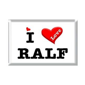 I Love RALF rectangular refrigerator magnet