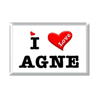 I Love AGNE rectangular refrigerator magnet