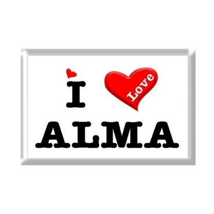 I Love ALMA rectangular refrigerator magnet