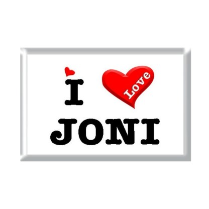I Love JONI rectangular refrigerator magnet