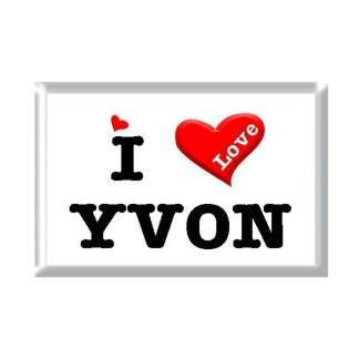 I Love YVON rectangular refrigerator magnet