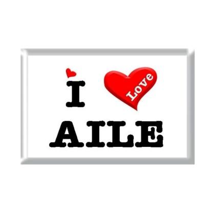 I Love AILE rectangular refrigerator magnet