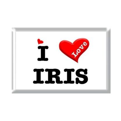 I Love IRIS rectangular refrigerator magnet
