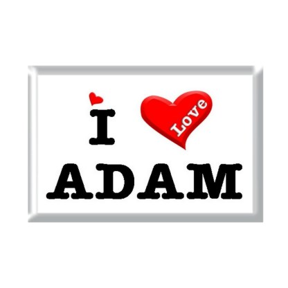 I Love ADAM rectangular refrigerator magnet