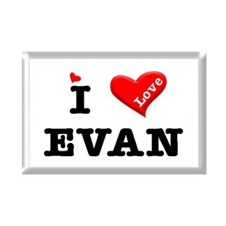 I Love EVAN rectangular refrigerator magnet