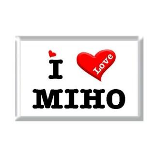 I Love MIHO rectangular refrigerator magnet