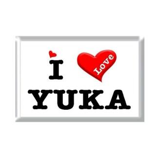 I Love YUKA rectangular refrigerator magnet
