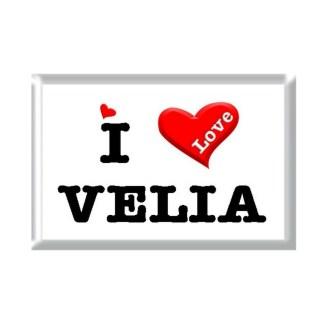 I Love VELIA rectangular refrigerator magnet