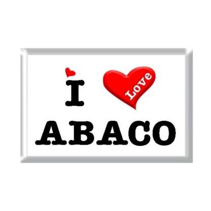 I Love ABACO rectangular refrigerator magnet