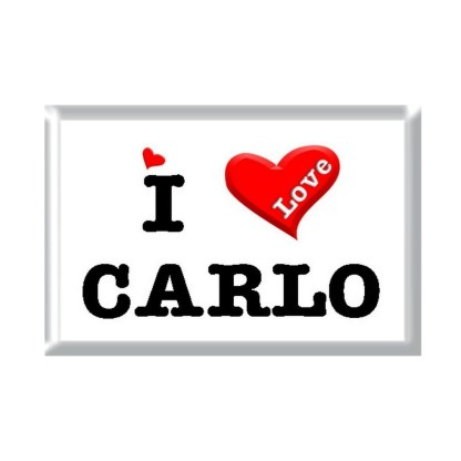 I Love CARLO rectangular refrigerator magnet