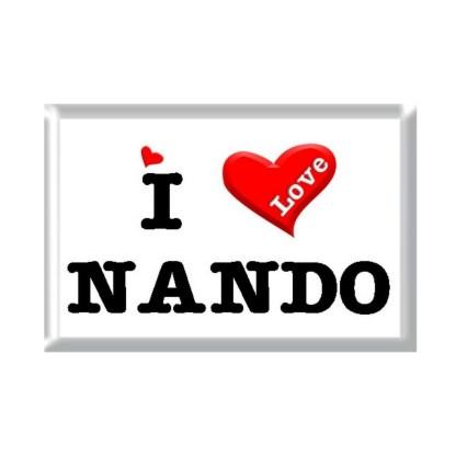 I Love NANDO rectangular refrigerator magnet