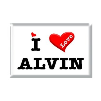 I Love ALVIN rectangular refrigerator magnet