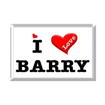 I Love BARRY rectangular refrigerator magnet