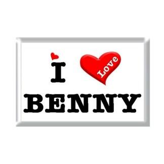I Love BENNY rectangular refrigerator magnet