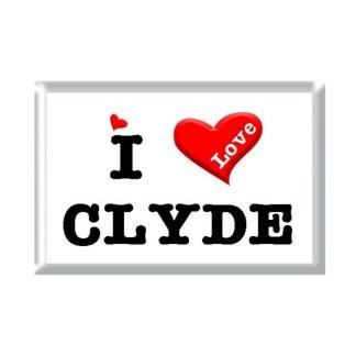 I Love CLYDE rectangular refrigerator magnet