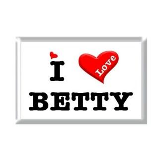 I Love BETTY rectangular refrigerator magnet