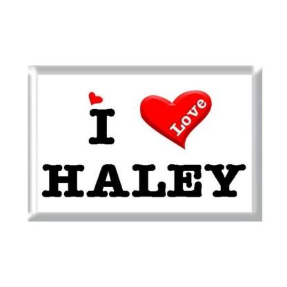 I Love HALEY rectangular refrigerator magnet