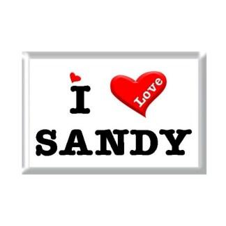 I Love SANDY rectangular refrigerator magnet