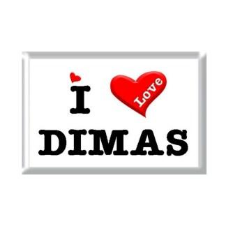 I Love DIMAS rectangular refrigerator magnet