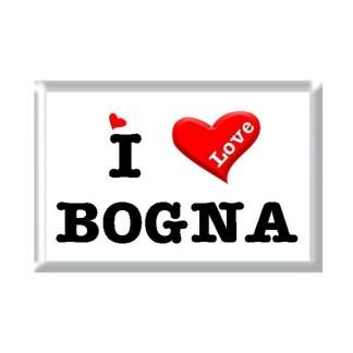 I Love BOGNA rectangular refrigerator magnet