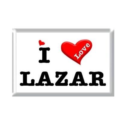I Love LAZAR rectangular refrigerator magnet