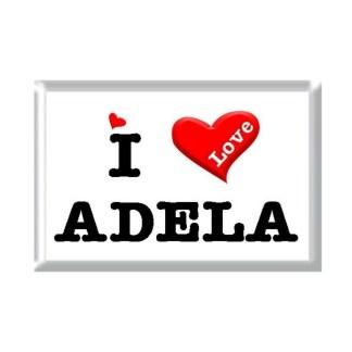 I Love ADELA rectangular refrigerator magnet