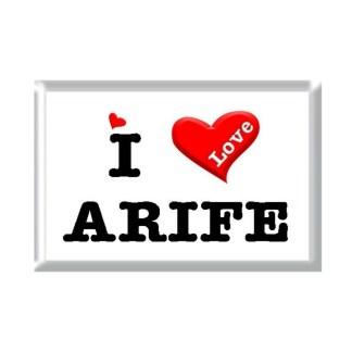 I Love ARIFE rectangular refrigerator magnet
