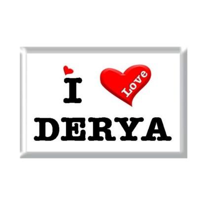 I Love DERYA rectangular refrigerator magnet
