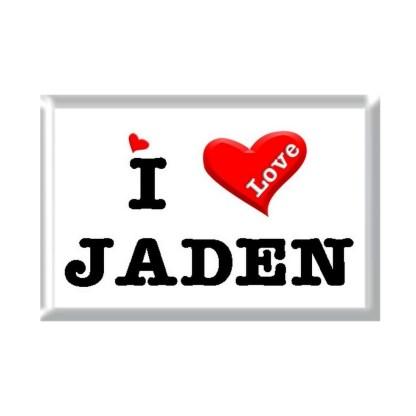 I Love JADEN rectangular refrigerator magnet