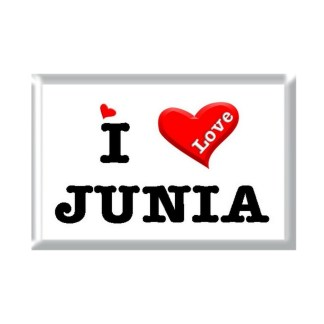 I Love JUNIA rectangular refrigerator magnet