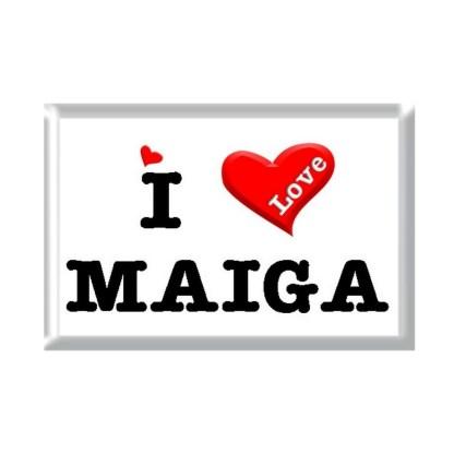 I Love MAIGA rectangular refrigerator magnet