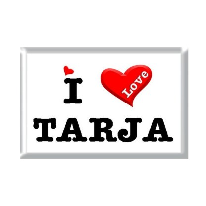 I Love TARJA rectangular refrigerator magnet