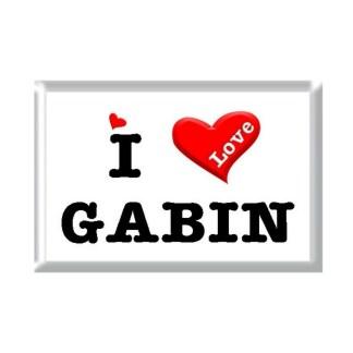 I Love GABIN rectangular refrigerator magnet