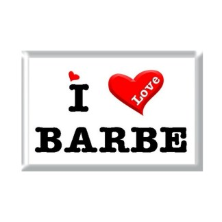 I Love BARBE rectangular refrigerator magnet