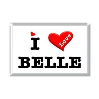 I Love BELLE rectangular refrigerator magnet