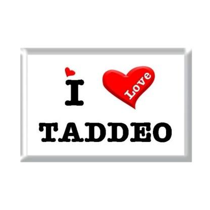 I Love TADDEO rectangular refrigerator magnet