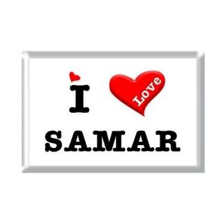 I Love SAMARA rectangular refrigerator magnet