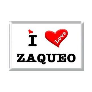 I Love ZAQUEO rectangular refrigerator magnet