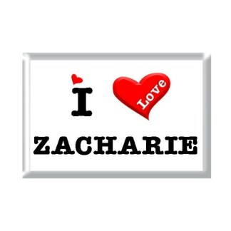 I Love ZACHARIE rectangular refrigerator magnet