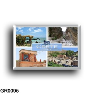 GR - Crete - Knossos - Elafonisi - Gortyn - Samaria Gorge - Panorama - rectangular refrigerator magnet