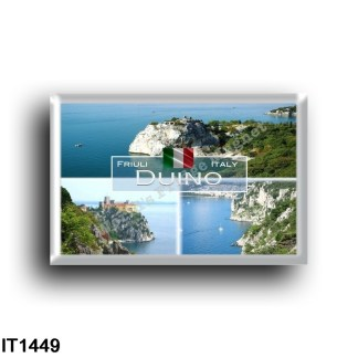 IT1449 Europe - Italy - Friuli Venezia Giulia - Duino - View - Duino Castle - Panorama