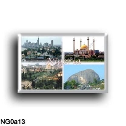 NG0a13 Africa - Nigeria - Panorama - Abuja National Mosque - Zuma Rock