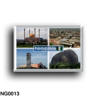 NG0013 Africa - Nigeria - Abuja National Mosque - Panorama - National Church - Zuma Rock