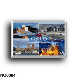NO0084 Europe - Norway - Oslo - The new Opera - House in Oslo - Skyline - Harbour - A typical City block of Oslo - Panorama