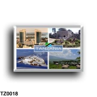 TZ0018 Africa - Tanzania - Twin Towers - Dodoma Cathedral - Snowy Uhuru Peak - Maasai boma