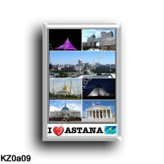 KZ - Astana - I Love Mosaic - Panorama City - Bayterek Tower - Palace of peace reconciliation - Khazrat Su - rectangular refrige