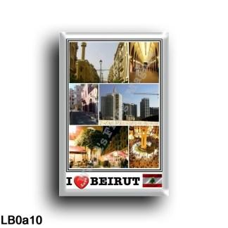 LB0a10 Asia - Lebanon - Beirut - I Love Mosaic - Panorama - Skycapers of Beirut